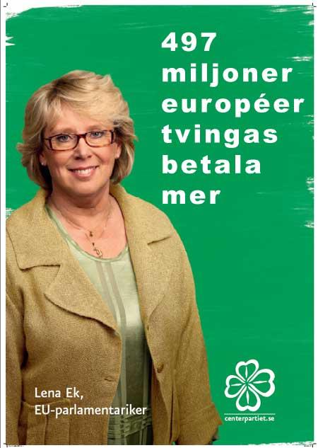 Valaffisch EU-valet Centerpartiet